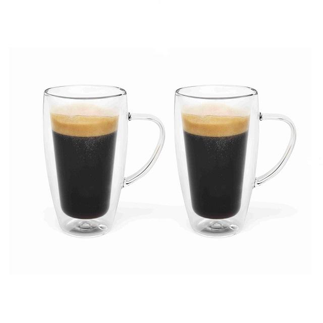 Dvoustěnný hrnek na kávu/čaj 295ml 2 ks - Bredemeijer