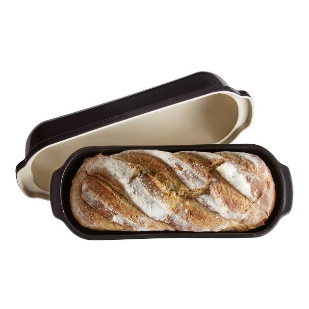 Forma na pečení chleba Specialities 39 x 16cm antracitová Charcoal - Emile Henry