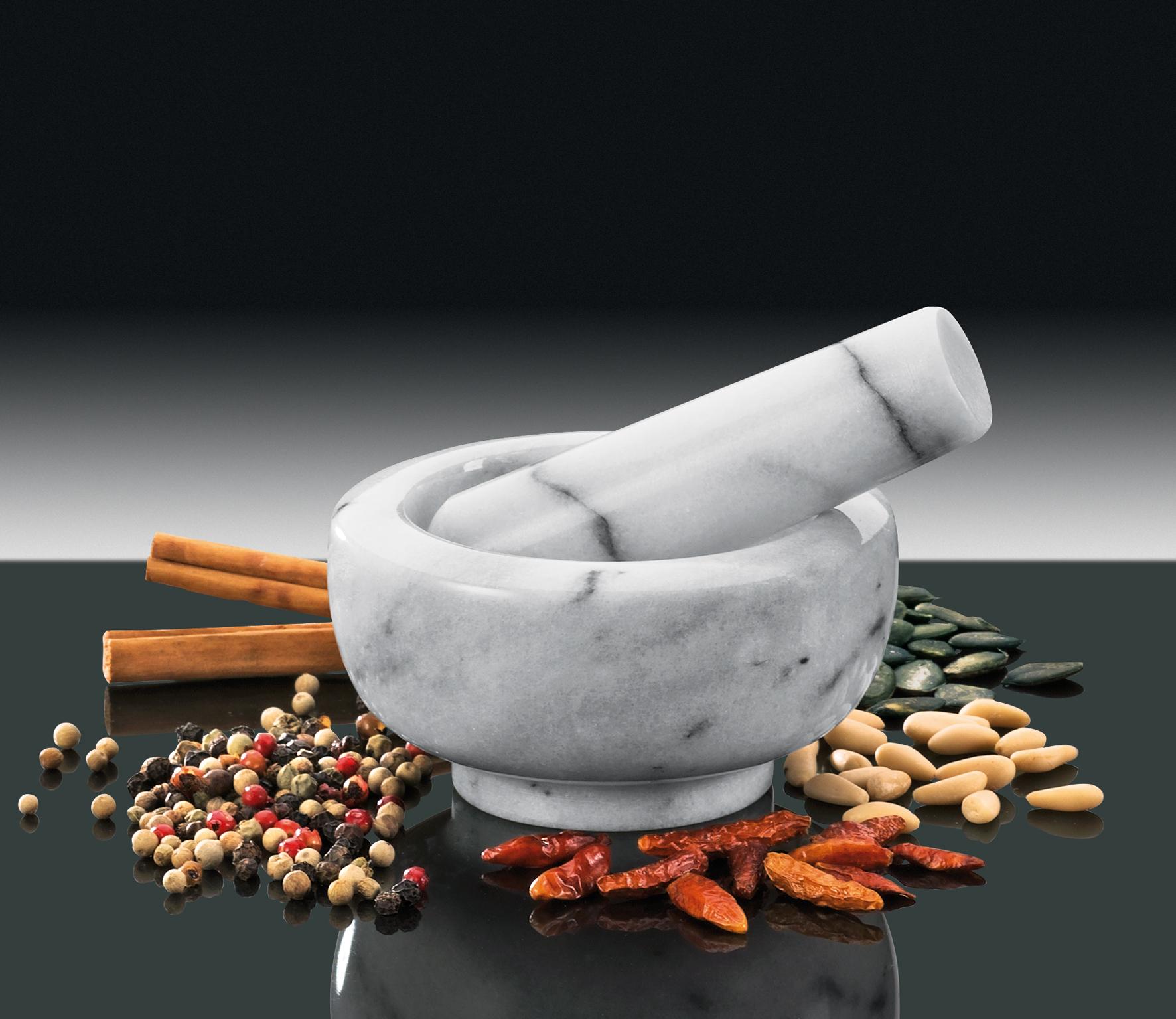 Hmoždíř mramorový bílý 8 cm - Küchenprofi