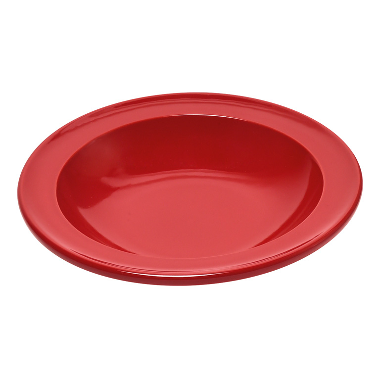 Talíř polévkový 22 cm červený Burgundy - Emile Henry