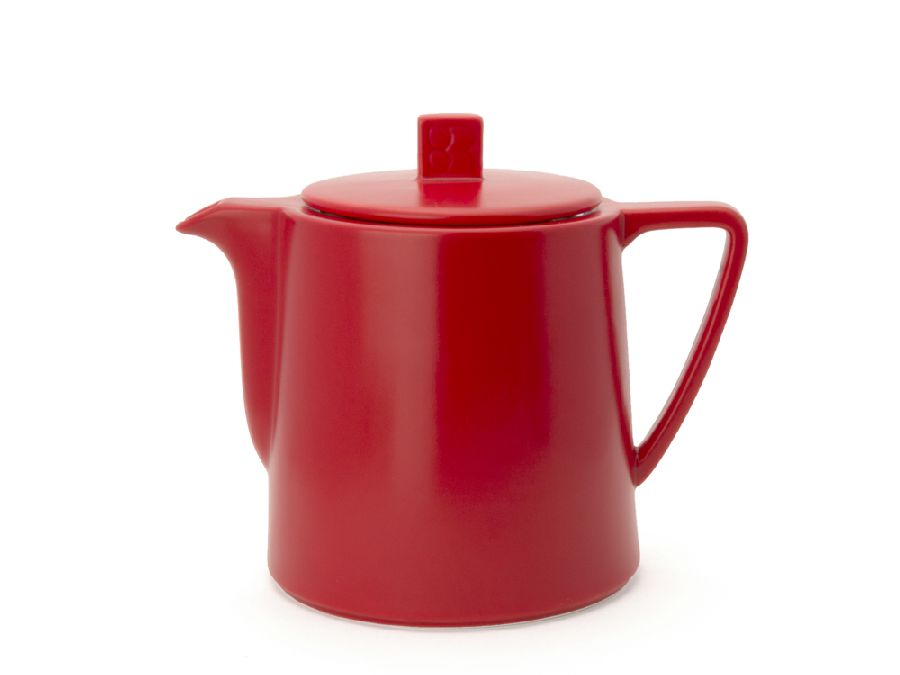 Konvička na čaj 1l, červená, Lund - Bredemeijer