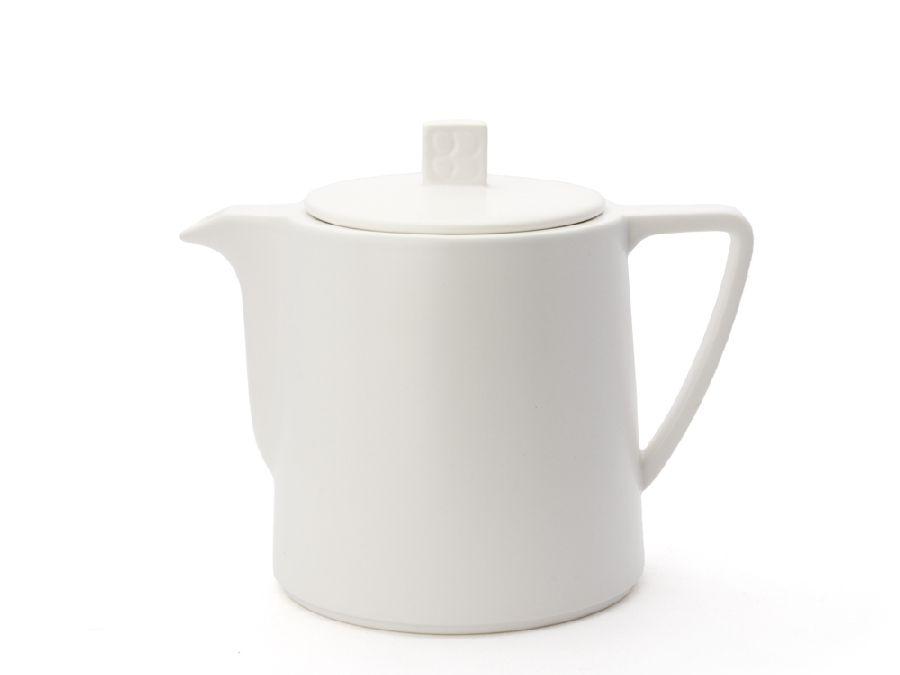 Konvička na čaj 1l, bílá, Lund - Bredemeijer