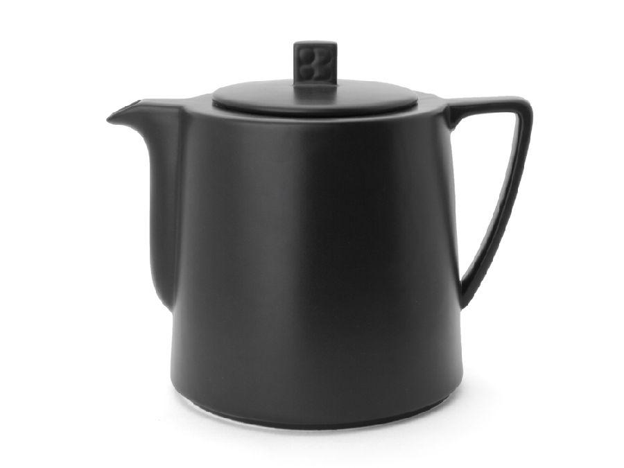 Konvička na čaj 1,5l, černá, Lund - Bredemeijer