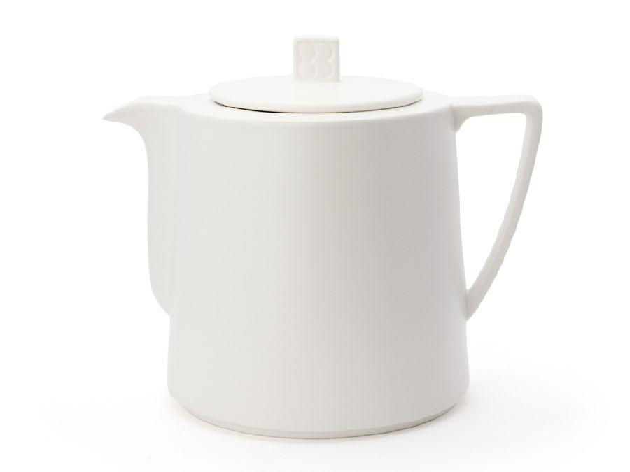 Konvička na čaj 1,5l, bílá, Lund - Bredemeijer