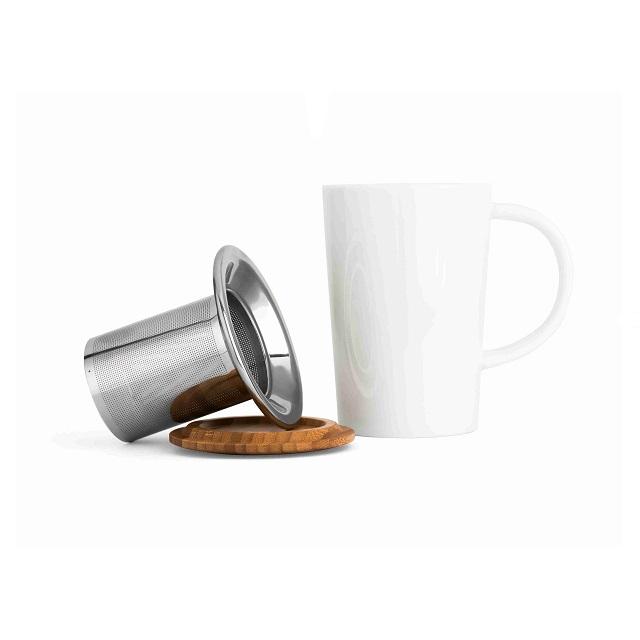 Hrnek na čaj s filtrem a víčkem 400ml Bamboo - Bredemeijer