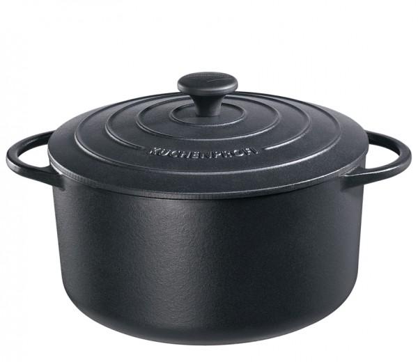 Litinový hrnec 28 cm černý Provence - Küchenprofi