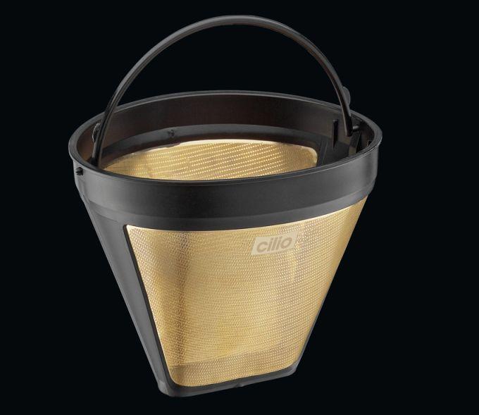 Permanentní zlatý filtr na kávu velikost 4 - Cilio