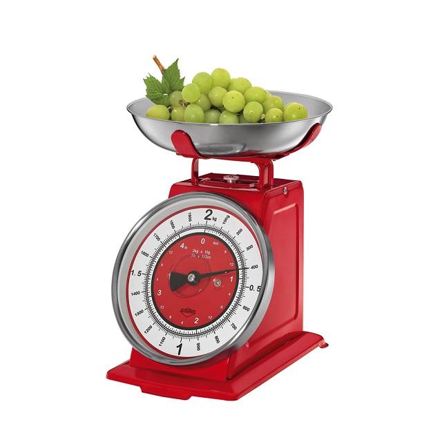 """Kuchyňská """"Retro"""" váha červená NOSTALGIE - Küchenprofi"""