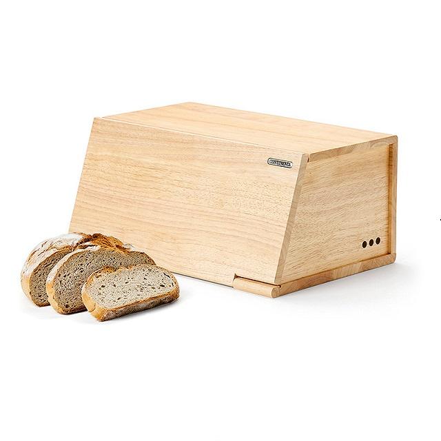Dřevěný chlebník 40 x 26 cm gumovník - Continenta
