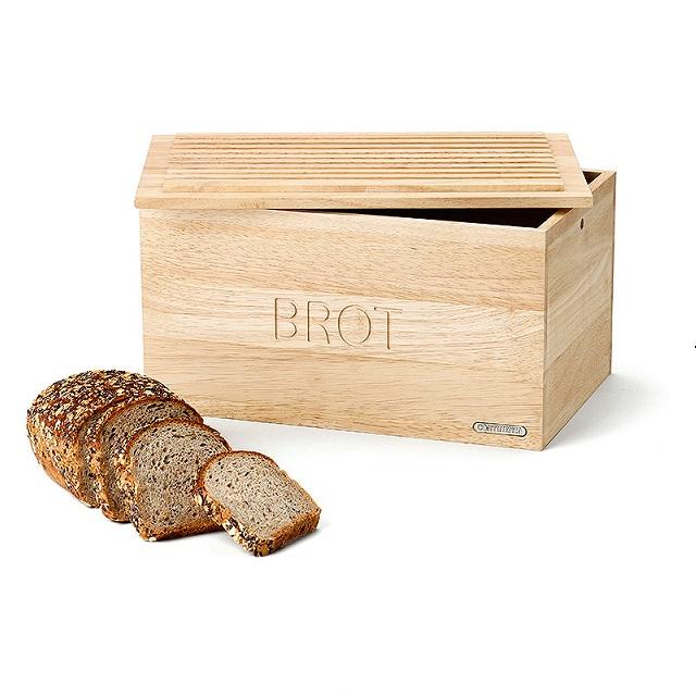 Dřevěný chlebník 34,5 x 23 cm gumovník - Continenta