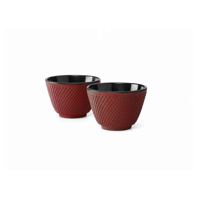 Šálky na čaj 2 ks, červené, Xilin - Bredemeijer