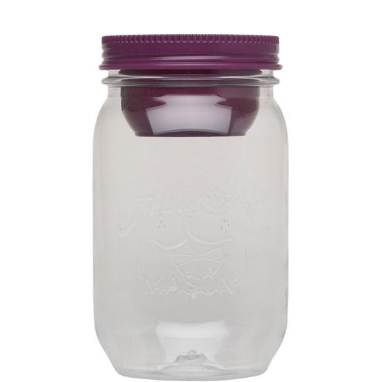 Dóza na potraviny 1000 ml, fialová, Mason - Aladdin