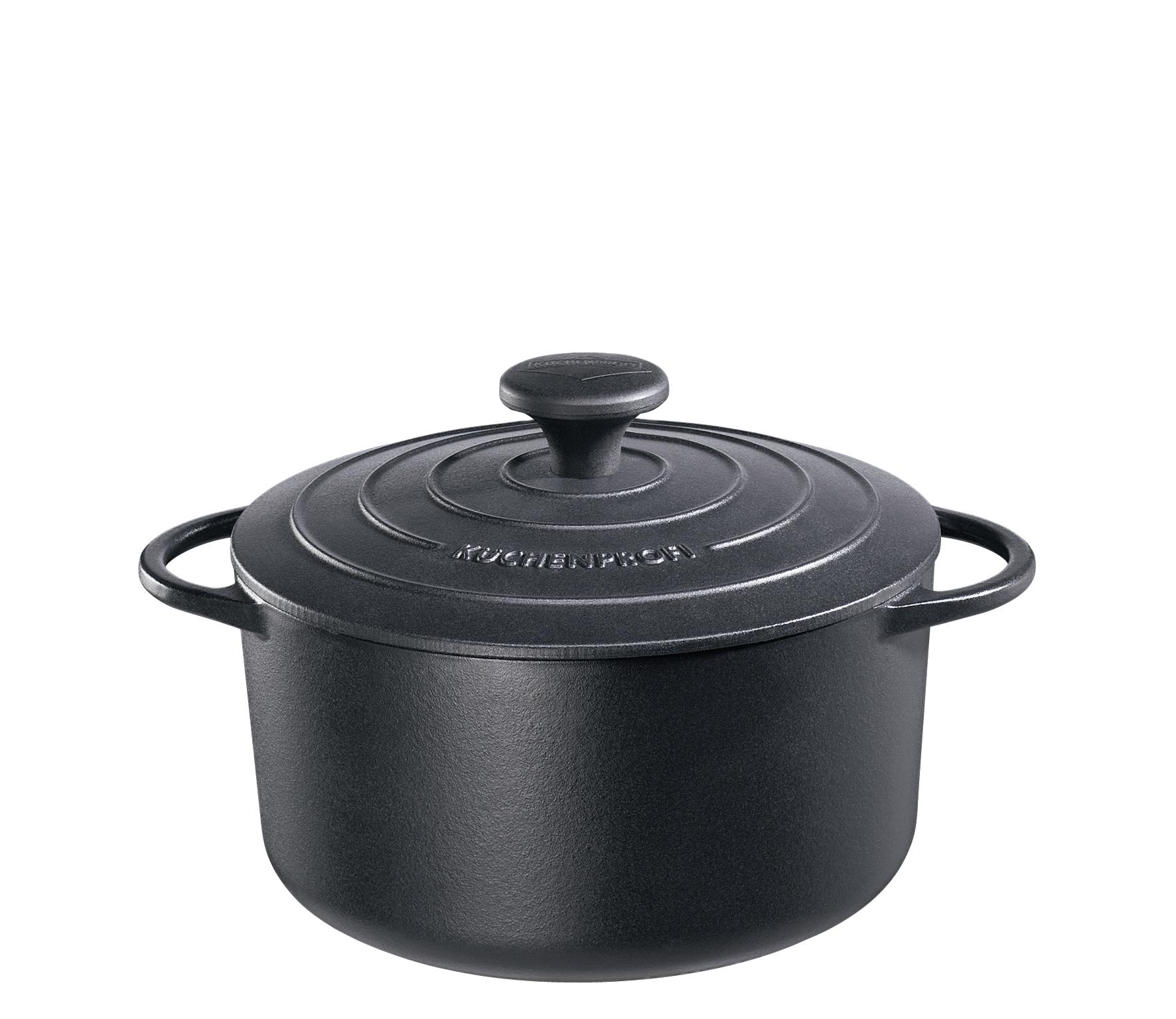 Litinový hrnec 22 cm černý Provence - Küchenprofi