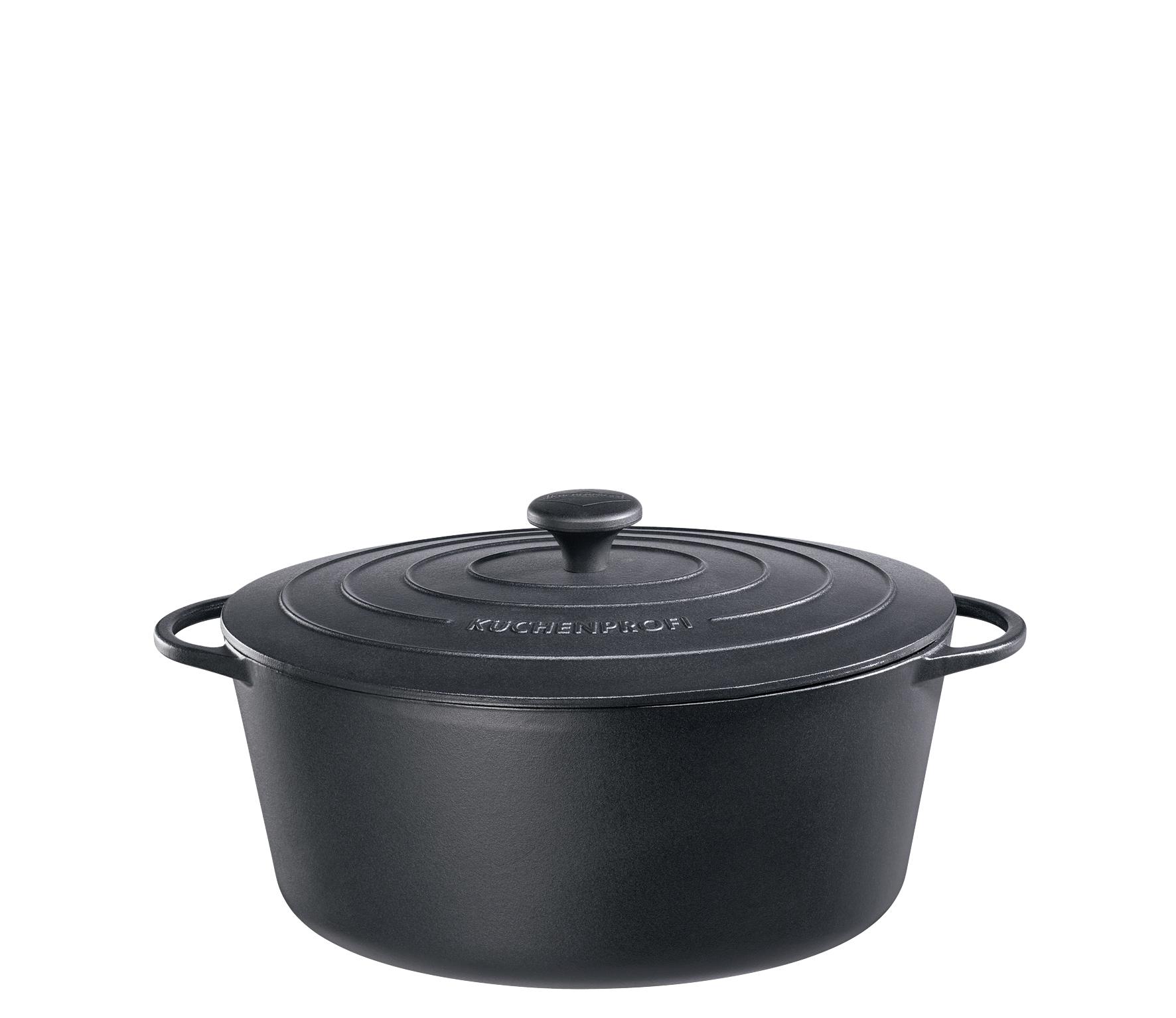 Litinový hrnec 31 cm černý Provence - Küchenprofi