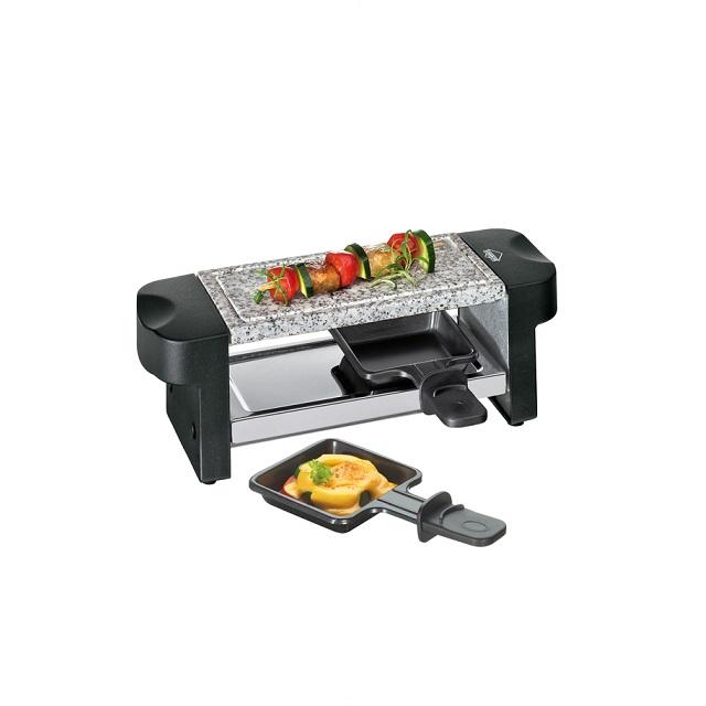 Elektrický Raclette gril, černý, HOT STONE DUO - Küchenprofi