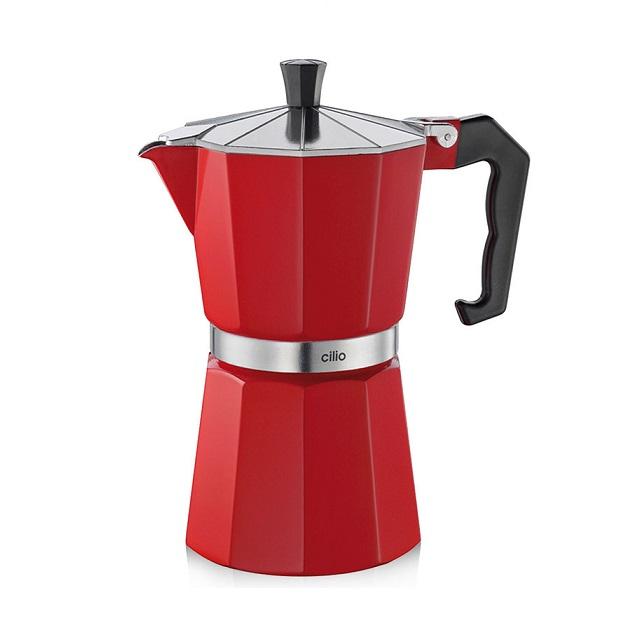 Espressovač na 6 šálků, červený, CLASSICO - Cilio