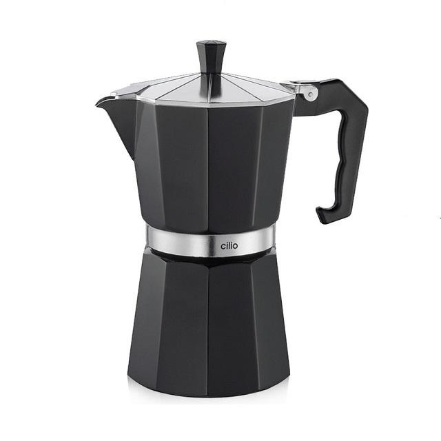 Espressovač na 6 šálků, černý, CLASSICO - Cilio