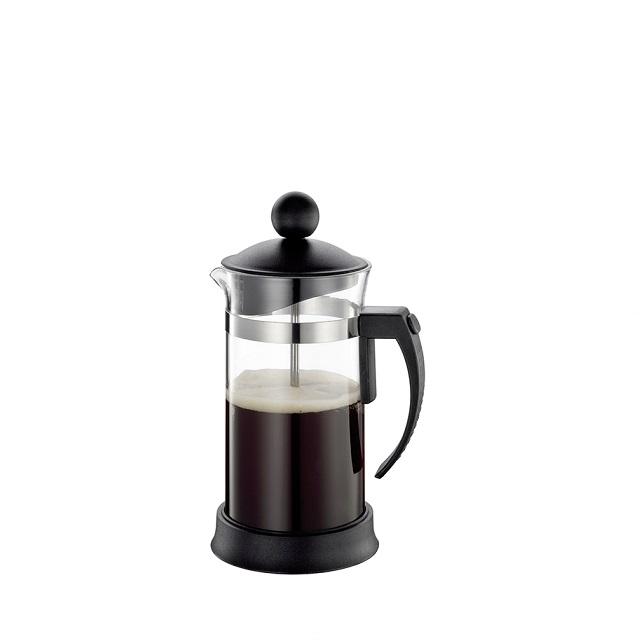 Stlačovací kávovar na 3 šálky, černý, MARIELLA - Cilio