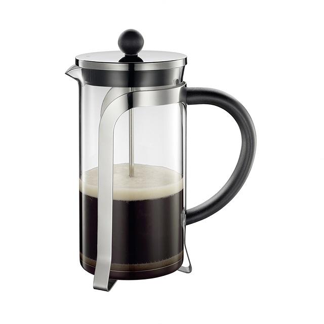 Stlačovací kávovar na 8 šálků, černý, MARIELLA - Cilio
