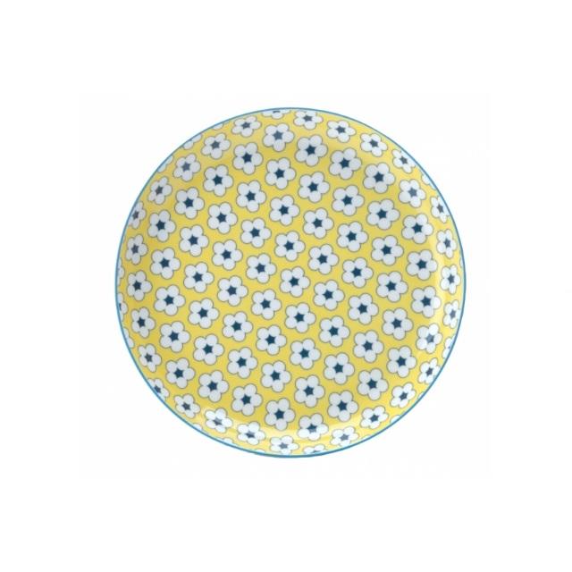 Mělký talíř 23 cm žlutý, COTTON BUD - Maxwell&Williams