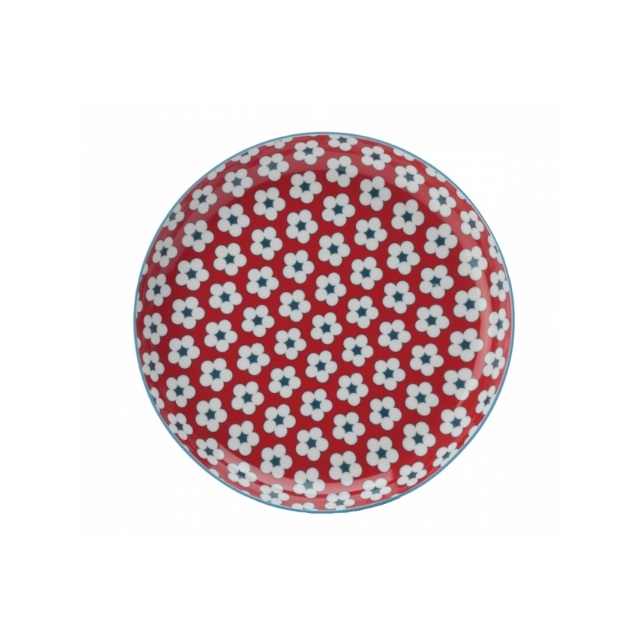 Mělký talíř 23 cm červený, COTTON BUD - Maxwell&Williams