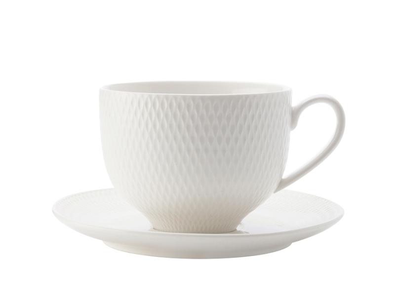 Čajový šálek & podšálek 220 ml, Diamonds - Maxwell&Williams
