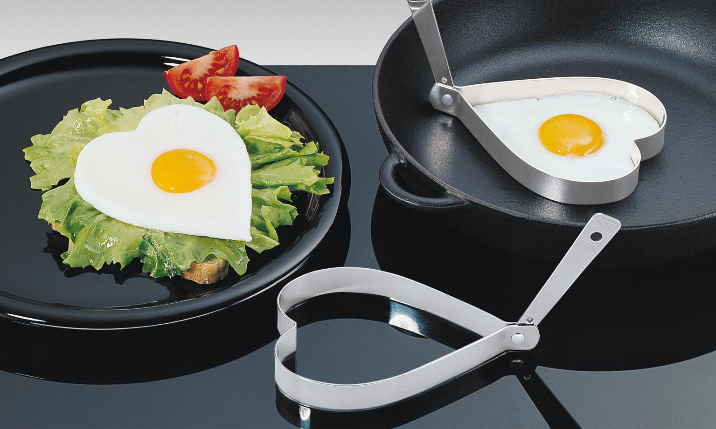 Sada dvou forem na vajíčka SRDCE nerezová - Küchenprofi