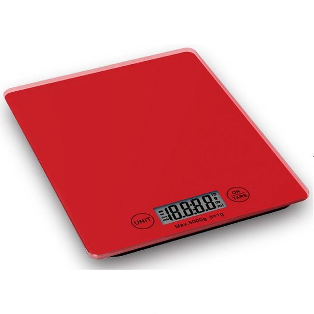 Digitální kuchyňská váha, červená - Weis