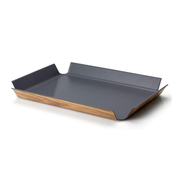 Protiskluzový podnos 41 x 29,5 cm, šedý - Continenta