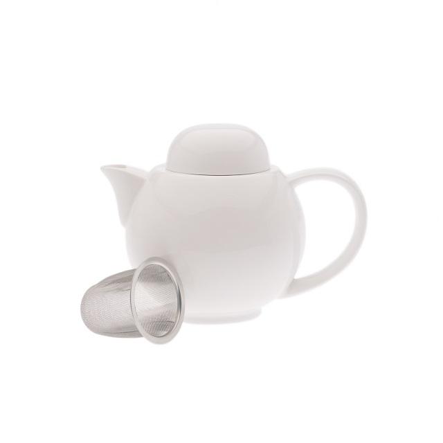 Porcelánová konvice se sítkem 1 l, WHITE BASIC - Maxwell&Williams