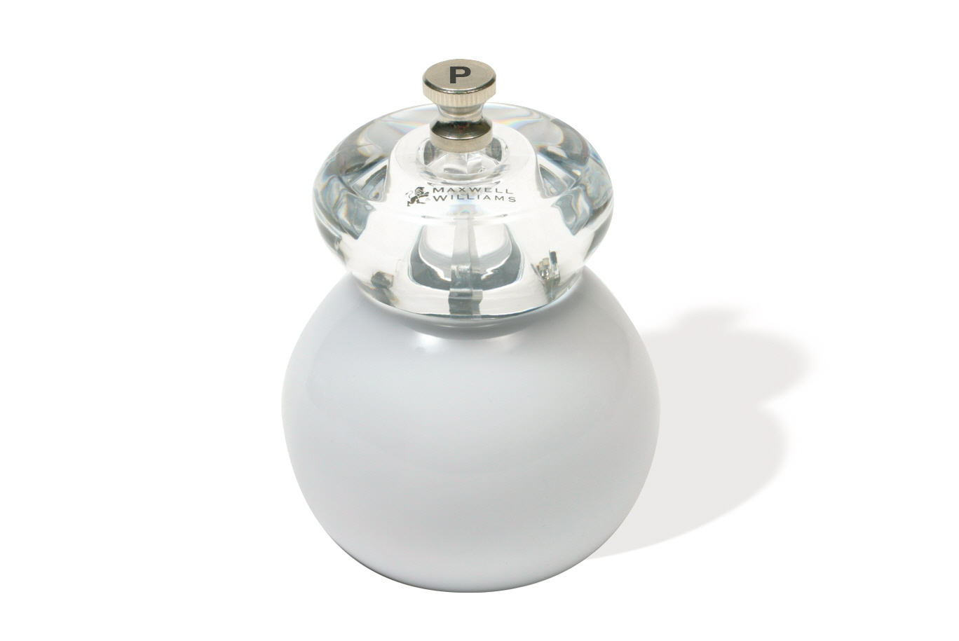 Mlýnek na pepř Bounce bílý 11 cm - Maxwell&Williams