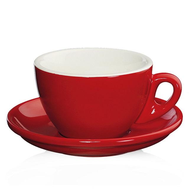 Šálek na capuccino 100 ml, červený, ROMA - Cilio
