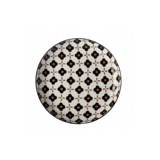 Mělký talíř 18,5 cm, Black Flower, Marigold - Maxwell&Williams