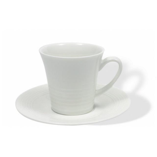 Šálek s podšálkem na espresso 100 ml, WHITE BASICS CIRQUE - Maxwell&Williams