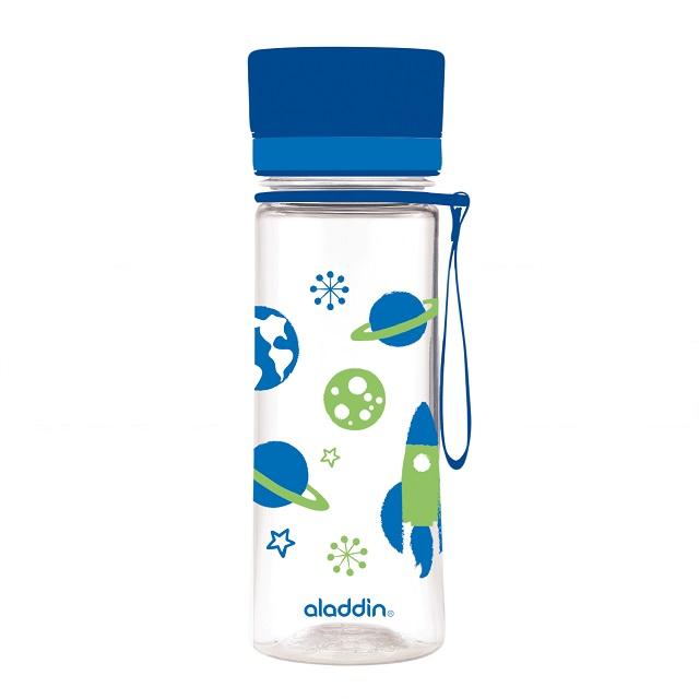 Láhev na vodu 350 ml, modrá s potiskem, AVEO KIDS - Aladdin