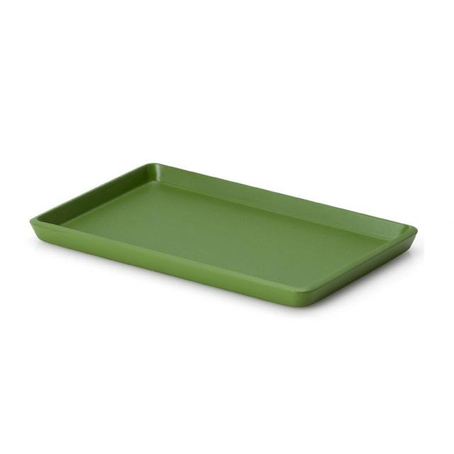 Lakovaný podnos 22 x 13,5 x 1,2 cm, zelený - Continenta