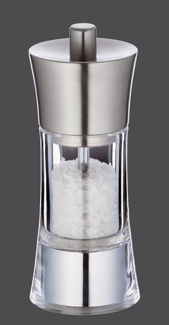 Mlýnek na sůl AACHEN nerez/akryl 14 cm - Zassenhaus