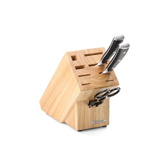 Blok na nože, na 9ks, gumovník - Continenta