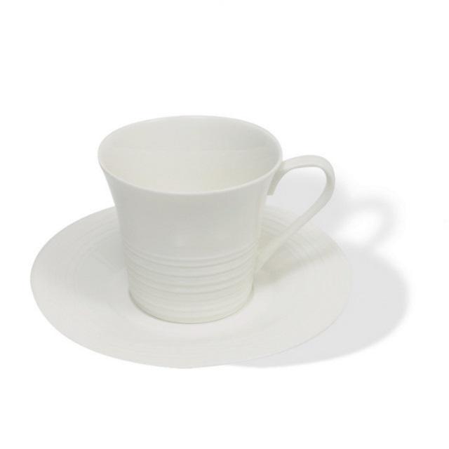 Šálek s podšálkem na cappuccino 220 ml, WHITE BASICS CIRQUE - Maxwell&Williams