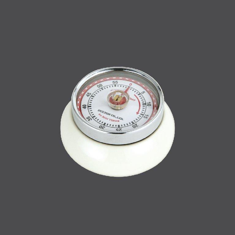 Kuchyňská magnetická minutka Speed Retro krémová - Zassenhaus