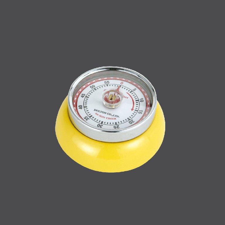 Kuchyňská magnetická minutka Speed Retro žlutá - Zassenhaus