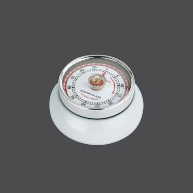 Kuchyňská magnetická minutka Speed Retro bílá - Zassenhaus