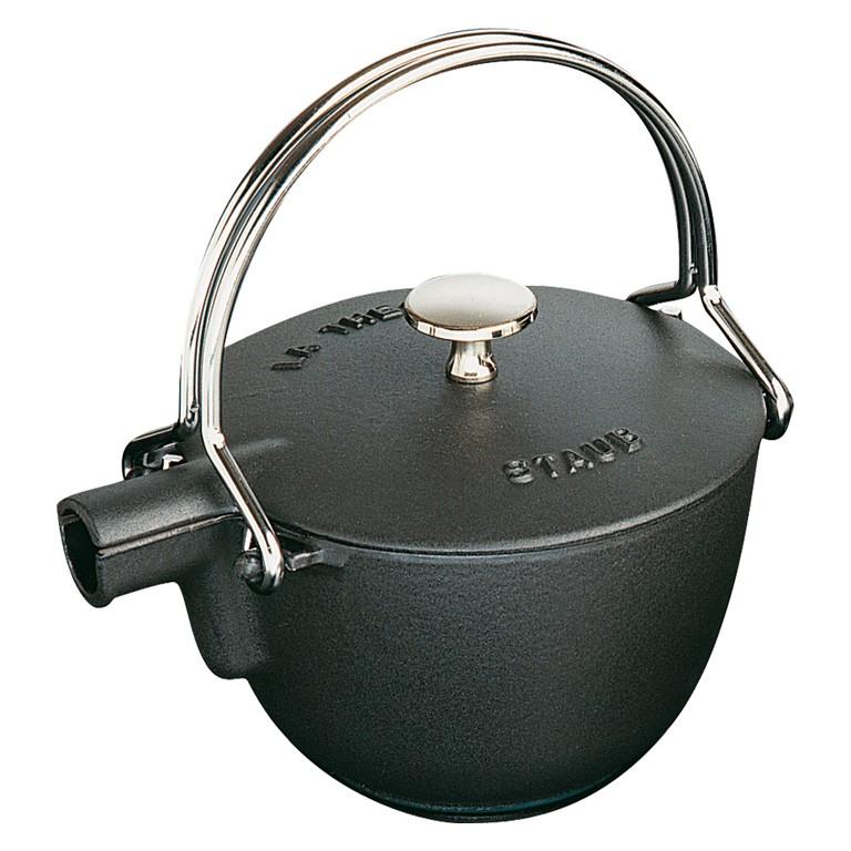 Konvice na vodu s nerezovým čajovým sítkem černá - Staub