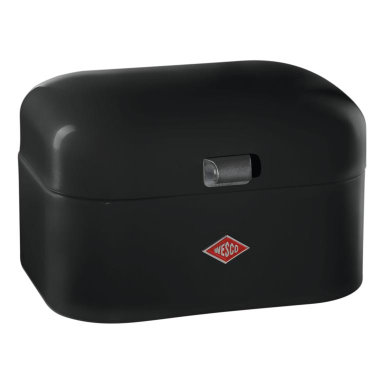 Chlebník Single Grandy 28 x 21,5 x 17 cm, černý - Wesco