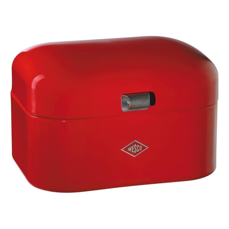 Chlebník Single Grandy 28 x 21,5 x 17 cm, červený - Wesco