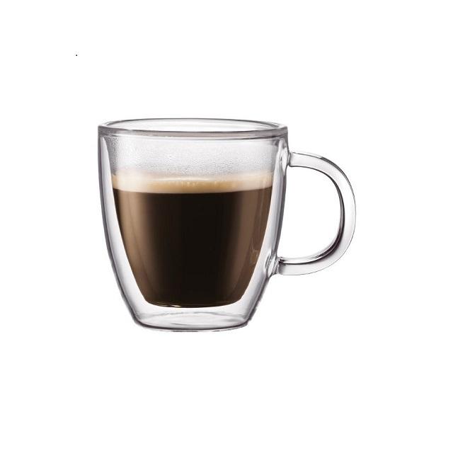 Set dvoustěnný hrnek na espresso 2 ks 0,15 l, BISTRO - BODUM
