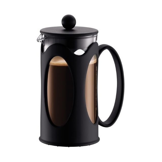 French press 1 l, plast černý, KENYA - BODUM