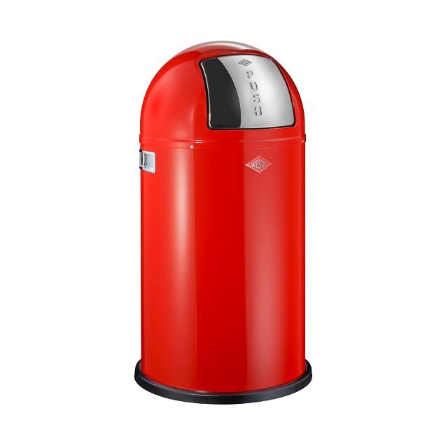 Odpadkový koš 50 l, červený, PUSHBOY - WESCO