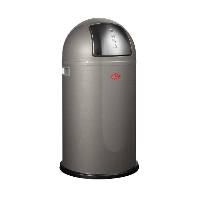 Odpadkový koš 50 l, šedý, PUSHBOY - WESCO