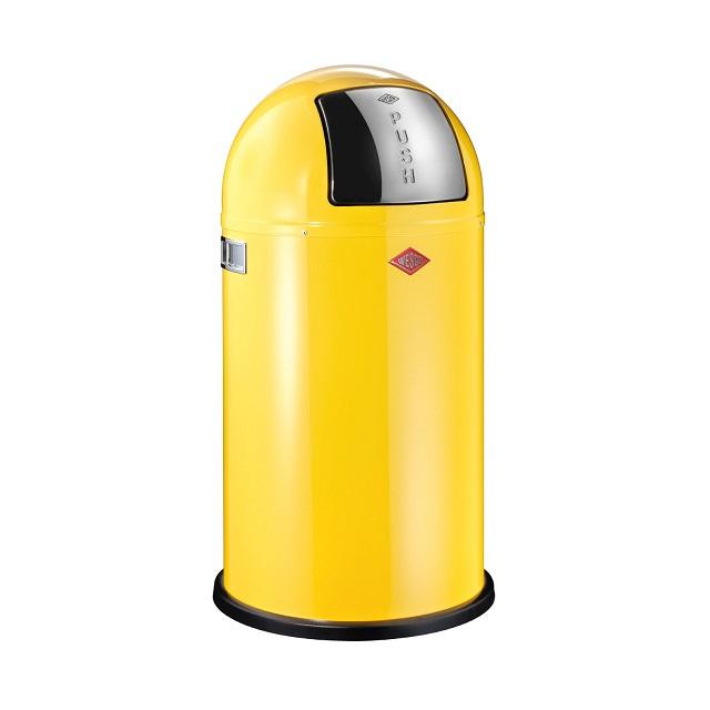 Odpadkový koš 50 l, žlutý, PUSHBOY - WESCO
